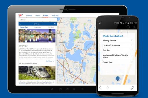 Trip planning with the AAA mobile app